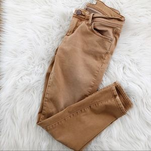 Free People Ankle Camel White Washed Skinny Jeans